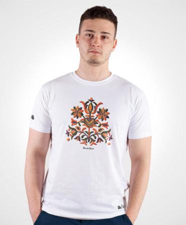 Pánske tričko Výšivka Prievidza – NAD TATROU biele