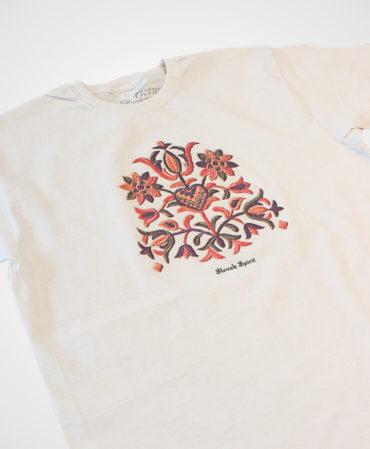 Pánske tričko Výšivka Prievidza – NAD TATROU natural