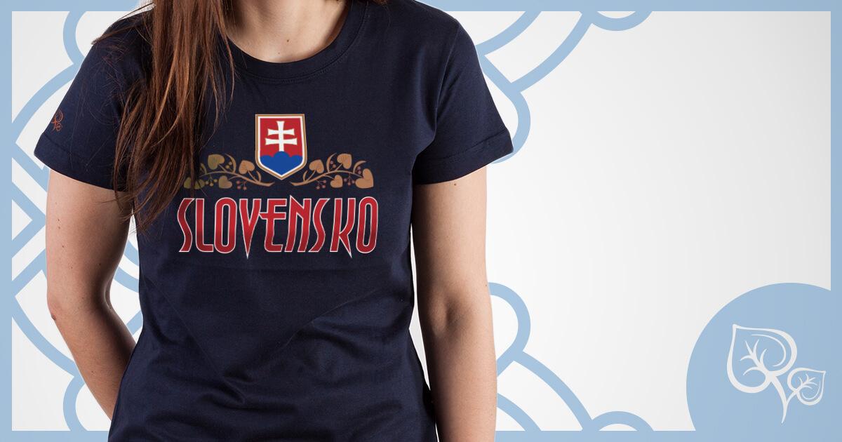 726c8df6bb995 Dámske tričko Slovensko Lipa NAD TATROU navy modré. Symbol Slovanov.