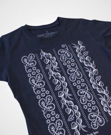 Tričko Modrotlač Liptov – NAD TATROU navy modré