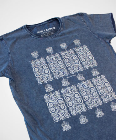 Tričko Modrotlač Kremnica – NAD TATROU jeans modré