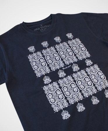 Pánske tričko Modrotlač Kremnica – NAD TATROU navy modré