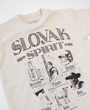 Tričko Slovak spirit – NAD TATROU natural
