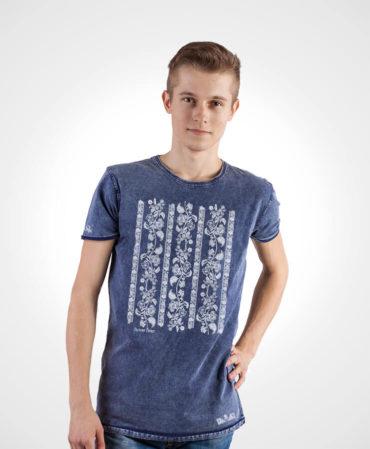 Pánske tričko Modrotlač Modrý Kameň – NAD TATROU jeans modré