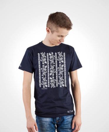 Pánske tričko Modrotlač Modrý Kameň – NAD TATROU navy modré