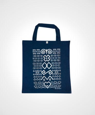 Nákupná taška Čičmany – NAD TATROU navy modrá