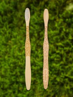 Bambusová kefka s folklórnym vzorom Morava