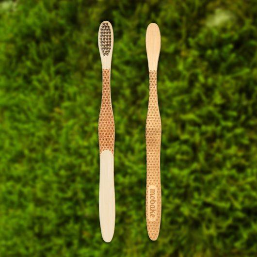 Bambusová kefka s folklórnym vzorom Kvet života