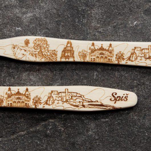 Darčekové kefky zo Slovenskými miestami v sklenenej skúmavke