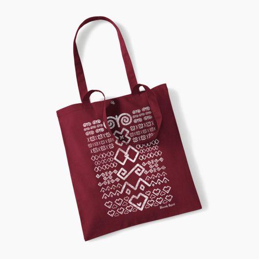 Eko taška s potlačou Čičmany bordová