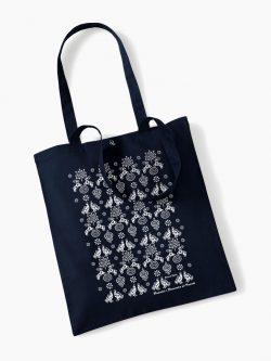 Eko nákupná taška Modrotlač Hranovnica tmavo modrá