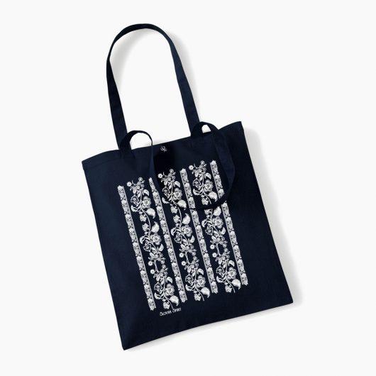 Eko nákupná taška Modrotlač Modrý kameň tmavo modrá