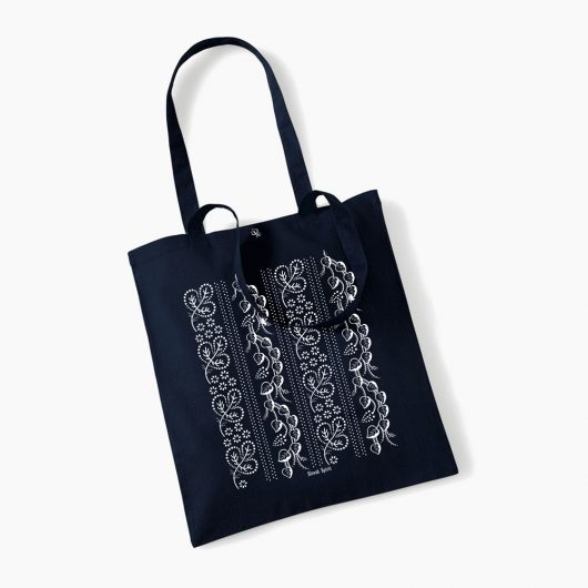 Eko nákupná taška Modrotlač Horehronie  tmavo modrá
