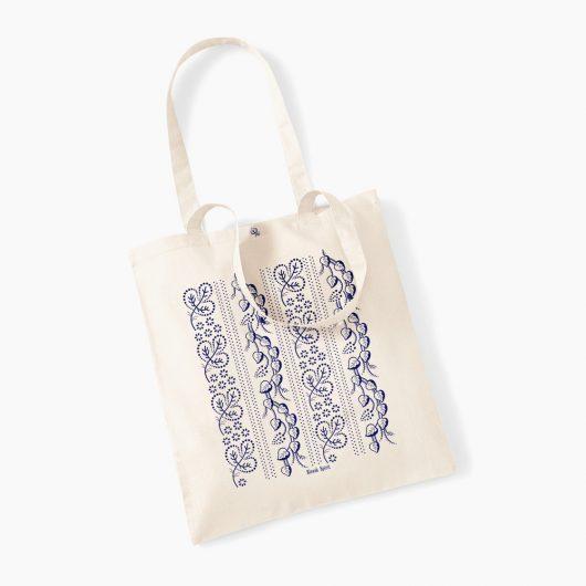 Eko nákupná taška Modrotlač Horehronie prírodná béžová