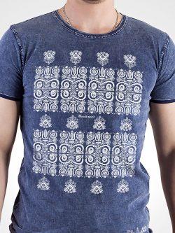 Pánske tričko Modrotlač Kremnica džínsovo modré - Slovak Spirit