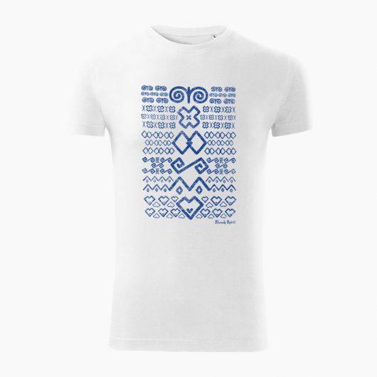 Pánske tričko Čičmanský vzor biele - Slovak Spirit