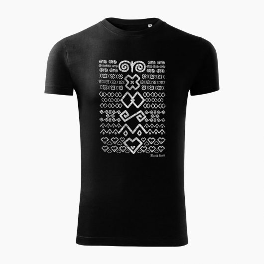 Pánske tričko Čičmanský vzor čierne - Slovak Spirit
