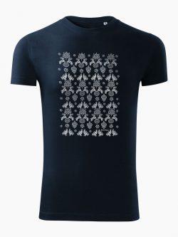 Pánske tričko Modrotlač Hranovnica tmavo modré - Slovak Spirit