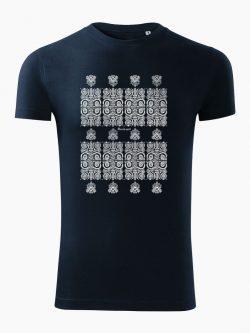 Pánske tričko Modrotlač Kremnica tmavo modré - Slovak Spirit