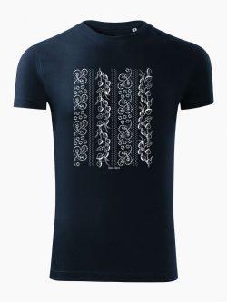 Pánske tričko Modrotlač Horehronie tmavo modré - Slovak Spirit