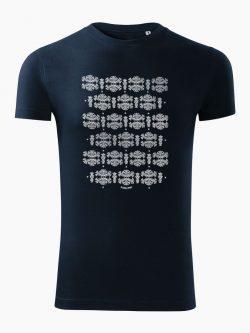 Pánske tričko Modrotlač Liptov tmavo modré - Slovak Spirit