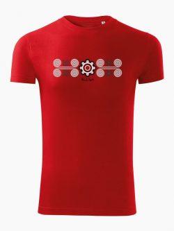 Pánske tričko Torysky červené - Slovak Spirit