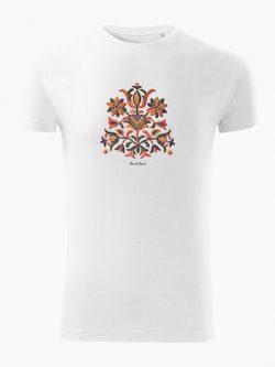 Pánske tričko Výšivka Prievidza biele - Slovak Spirit
