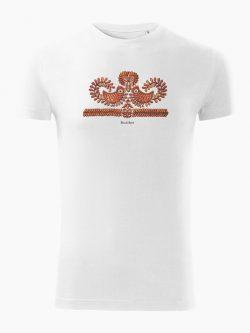 Pánske tričko Výšivka Čataj biele - Slovak Spirit