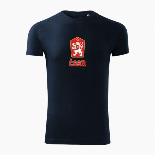 Pánske tričko ČSSR tmavo modré - Slovak Spirit