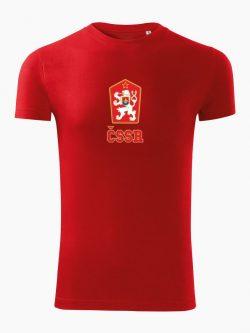 Pánske tričko ČSSR červené - Slovak Spirit