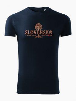 Pánske tričko Slovenské korene tmavo modré - Slovak Spirit