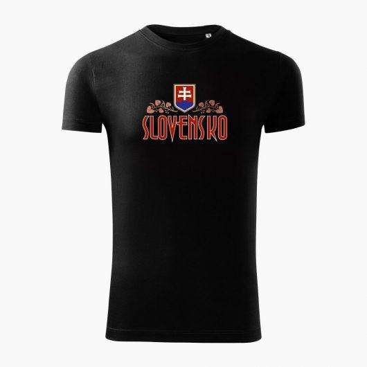 Pánske tričko Slovenská Lipa čierne - Slovak Spirit