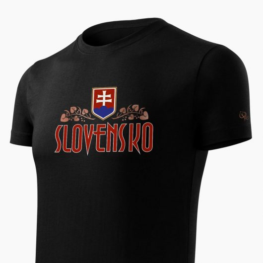 Pánske tričko Slovenská Lipa čierne detail - Slovak Spirit
