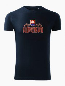 Pánske tričko Slovenská Lipa tmavo modré - Slovak Spirit