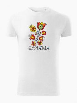 Pánske tričko Slovakia Kvet biele - Slovak Spirit