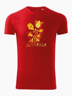 Pánske tričko Slovakia Kvet červené - Slovak Spirit