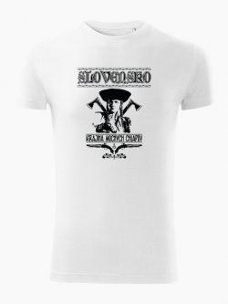 Pánske tričko Krajina mocných chlapov biele - Slovak Spirit