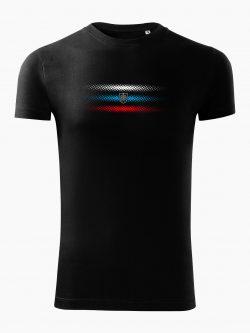 Pánske tričko Slovenská trikolóra čierne - Slovak Spirit