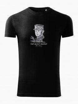 Pánske tričko Milan Rastislav Štefánik čierne - Slovak Spirit
