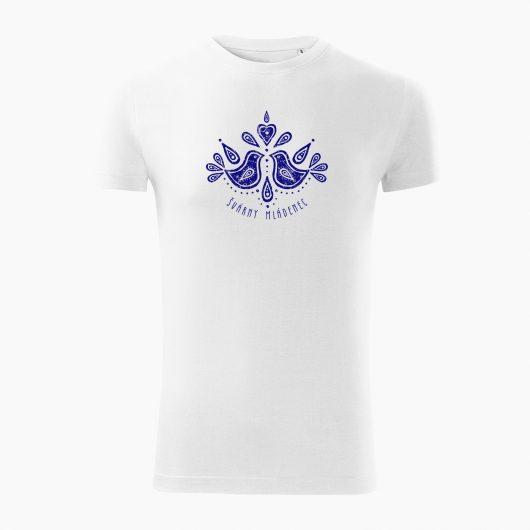 Pánske tričko Švárny mládenec biele - Slovak spirit