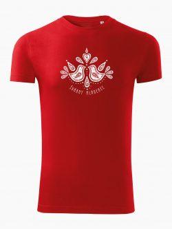 Pánske tričko Švárny mládenec červené - Slovak spirit