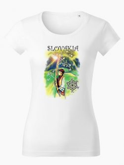 Dámske tričko Fujarista biele - Slovak Spirit