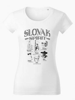Dámske tričko Slovak spirit biele - Slovak Spirit