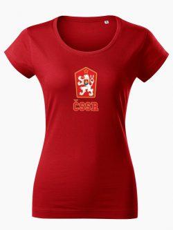 Dámske tričko ČSSR červené - Slovak Spirit