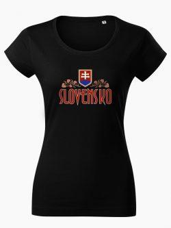 Dámske tričko Slovenská Lipa čierne - Slovak Spirit