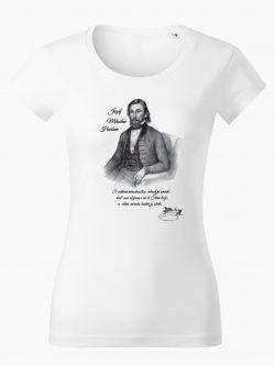 Dámske tričko Jozef Miloslav Hurban biele - Slovak Spirit