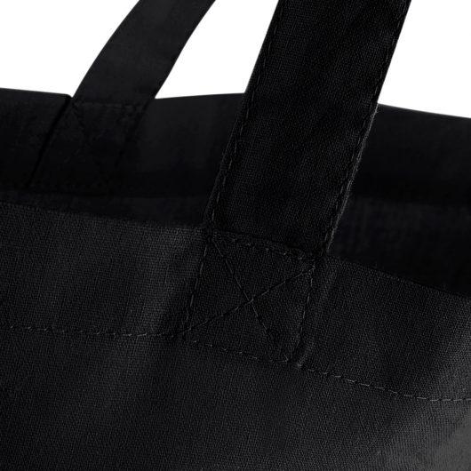 Eko taška s potlačou Čičmany čierna detail prešitia tašky
