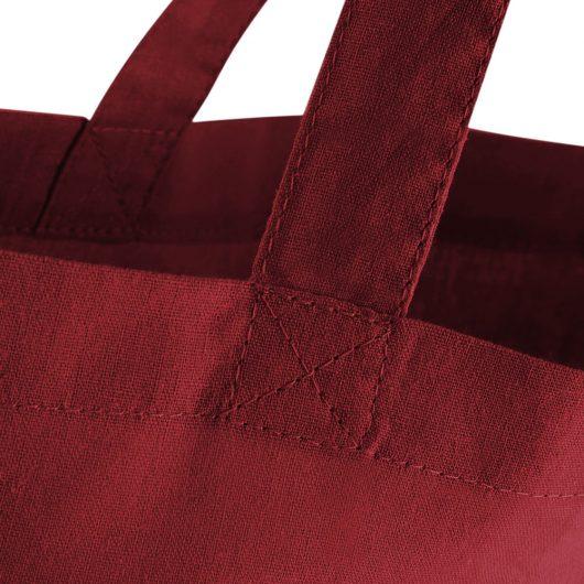 Detail prešitia eko nákupnej tašky