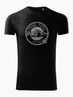 Pánske tričko Vysoké Tatry - Kriváň čierne - Také naše