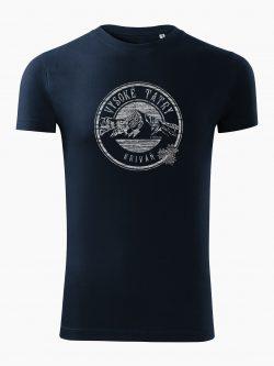 Pánske tričko Vysoké Tatry - Kriváň tmavo modré - Také naše